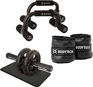【Amazon限定ブランド】ボディテック(Bodytech) トレーニング入門セット (腹筋ローラー + プッシュアップバー + リストアンクルウェイト 1kg 2個セット)