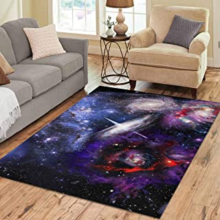 INTERESTPRINT Sweet Home Stores Collection Custom Space Landscape Elements Area Rug 7'x5' Indoor Soft Carpet
