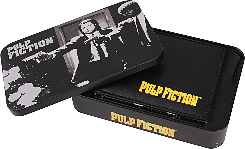 Pulp Fiction Official Gift Tin Vincent Vega Jules Winnfield Leather Money Wallet