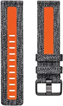 Fitbit Versa Family Accessory Band, Official Fitbit Product, Woven Reflective, Charcoal/Orange, Small