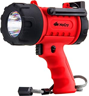 NoCry 18W Waterproof Rechargeable Flashlight (Spotlight) with 1000 Lumen LED, Detachable..