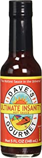 Dave's Gourmet Ultimate Insanity Hot Sauce, 5-Ounces Class Bottles (Pack of 1)