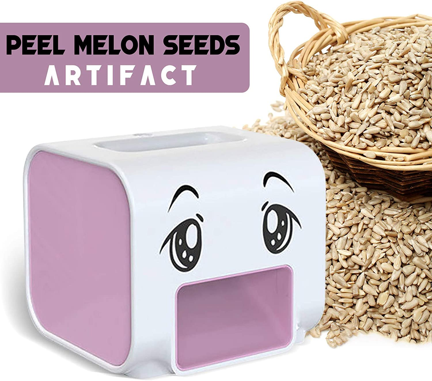Melon Seed Opener Melon Seed Sheller Opening Tools for Home Automatic Melon Seed Peeling Machine Sunflower Seeds Shelling Machine White Electric Melon Peeler Artifact Melon Seed Cracker