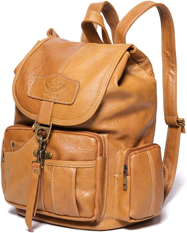 JOSEKO Women Backpack Purse, PU Leather Vintage Shoulder Bag School Backpack Rucksack