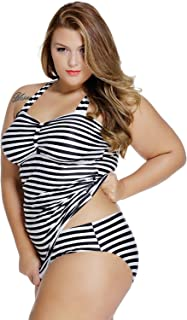 Best plus size black and white tankini Reviews