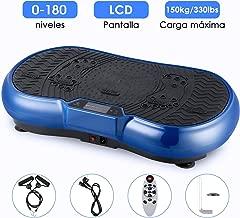 3D Plataforma Vibratoria, EVOLAND Máquina de Ejercicio Entrenamiento Anti-Deslizante con Altavoz Bluetooth y Motor Silencioso, Deportivo Multifunción para Perder Peso y Relajar Músculospara Perder Peso y Relajar Músculos