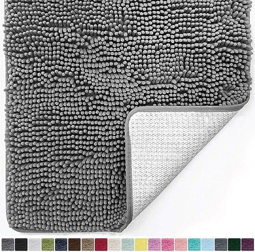 Gorilla Grip Original Luxury Chenille Bathroom Rug Mat, 30x20, Extra Soft and Absorbent Shaggy Rugs, Machine Wash Dry...