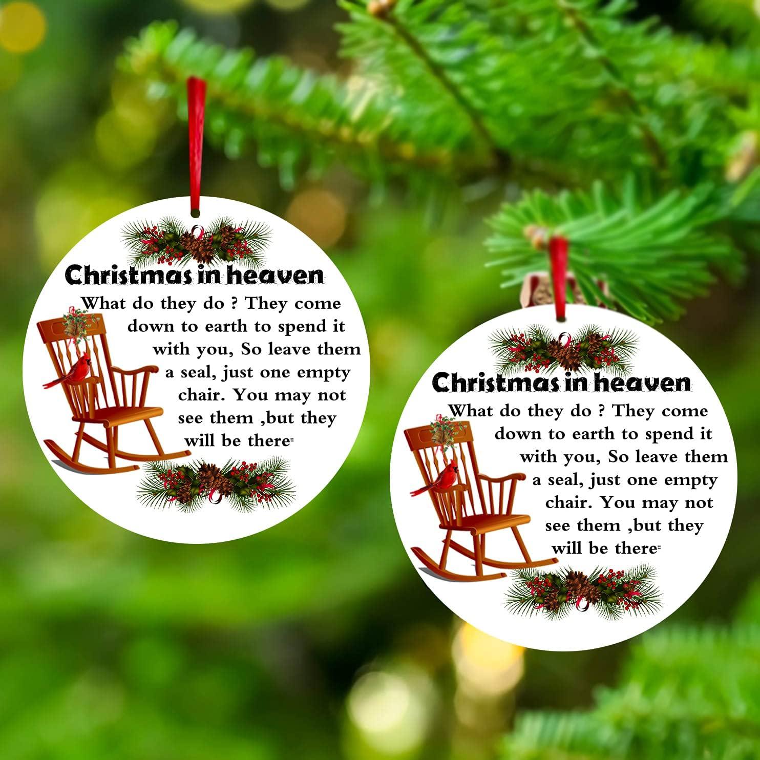 Elegant ANLEMIN Christmas in Max 74% OFF Heaven Ornaments Decorati Keepsake Memorial