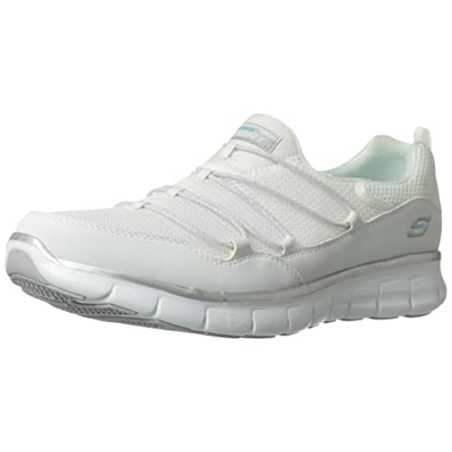 skechers memory foam shoes white