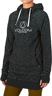 Volcom Women's Costus Pullover Sueded Heather Hooded Fleece