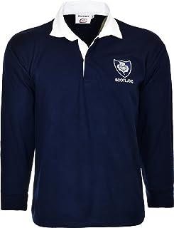 b288c4e28 Scotland Rugby, camicia maglia a maniche lunghe con colletto classico retro  top 6nazioni
