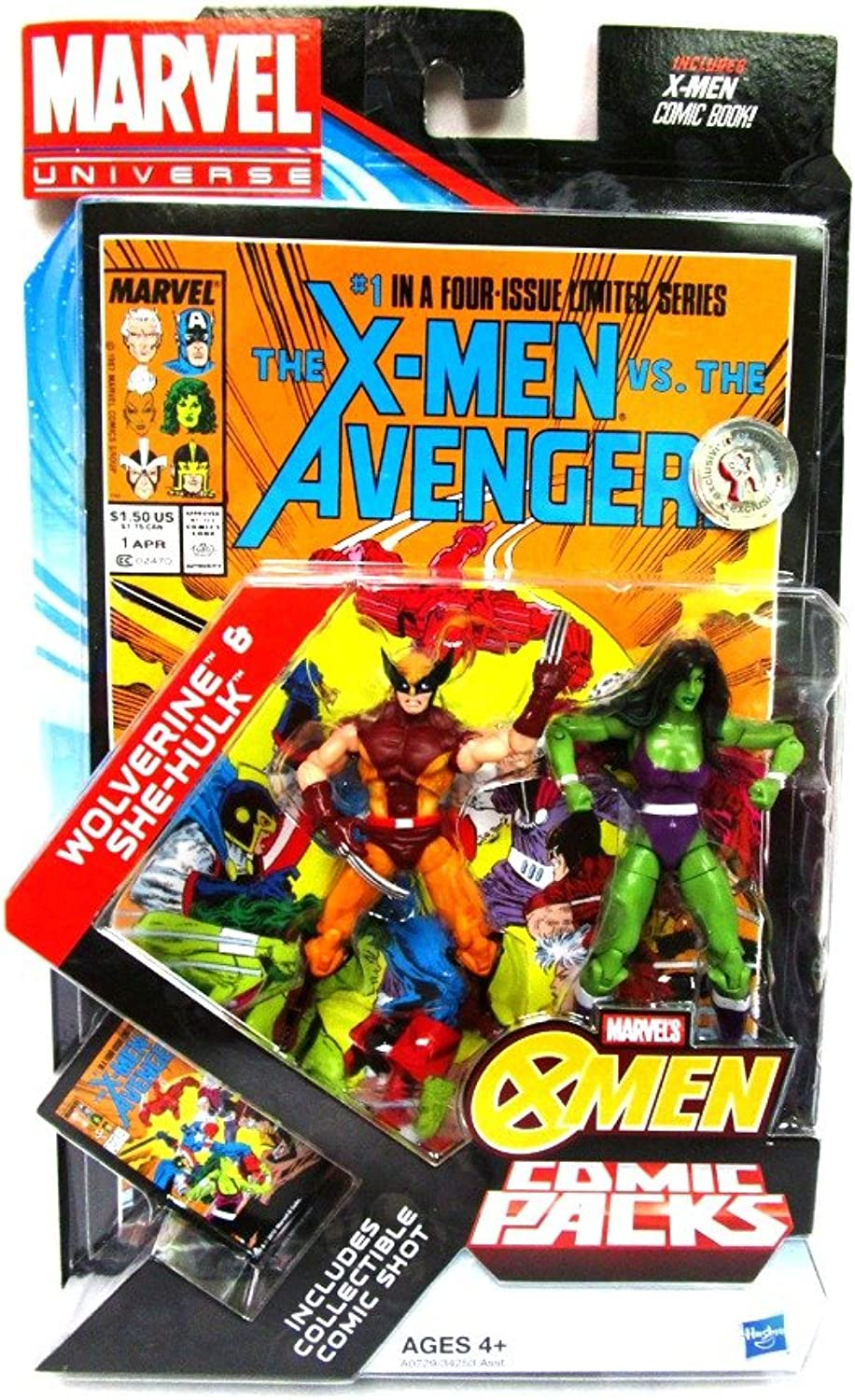 Marvel Universe Wolverine & SheHulk Exclusive Comic Pack Includes Collectible Comic Shot & Comic Book by Marvel