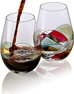 wine glasses custom painted