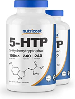 Nutricost 5-HTP 100mg, 240 Capsules (2 Bottles)