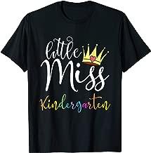 Little Miss Kindergarten First Day Of School Girls Gift T-Shirt
