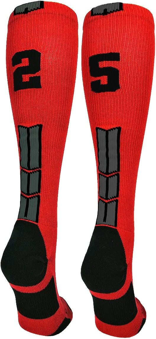MadSportsStuff Red free and Black Player ID Number Ca Max 55% OFF Over The Custom