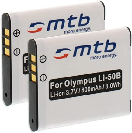 2x Battery Li-50b for Olympus SP-720UZ SP-800UZ VH-510 VR-340 VR-350 VR-360 XZ-1...weitere, compare list