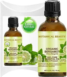 ORGANIC BERGAMOT ESSENTIAL OIL Italian - CITRUS BERGAMIA. 100% Pure Therapeutic Grade, Premium Quality, Undiluted. (0.5 Fl.oz - 15 ml)