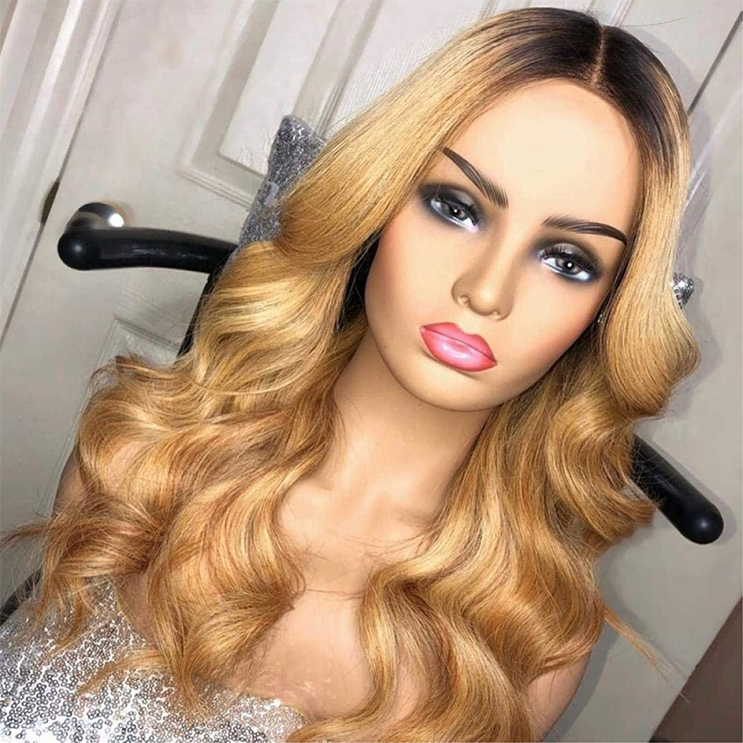 XZGDEN Hair Replacement Wig 1B 27 Blonde Honey Fashion Color discount 13 Lace 4