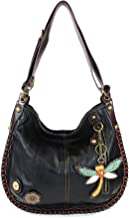 CHALA Handbags Charming Crossbody or Shoulder Convertible Large Chala Purse - BLACK