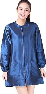 KAHOT Professional Salon Smock Stylist Jacket Cosmetology Uniform Zipper Hairdressing Cape Hairdresser Work Clothes Hair Beauty SPA Guest Client Kimono Gown (M, Blue)