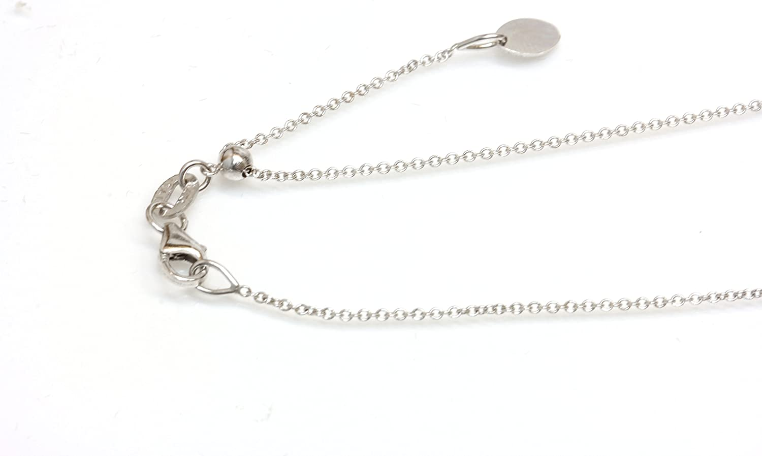 Seven Seas Pearls 14kt Solid White Gold Adjustable Chain 14