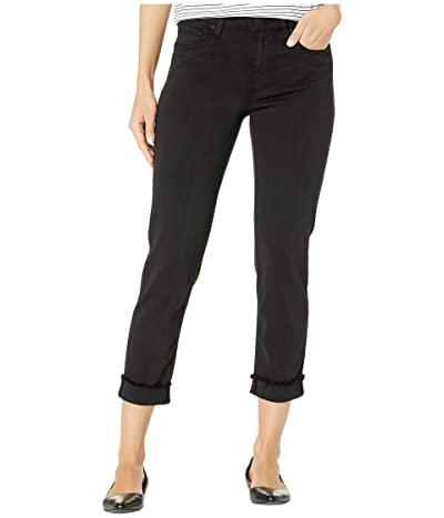 KUT from the Kloth Amy Crop Straight Leg Roll Up Frey in Black (Black) Women