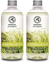 Lemongrass Diffuser Refill 34 oz (2x17oz) - Fresh & Long Lasting Fragrance - Refill with Natural Essential Lemongrass Oil ...