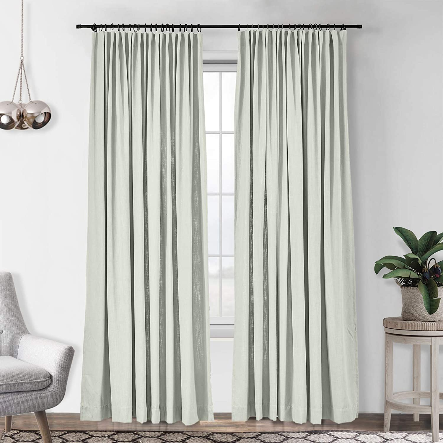 Free Shipping Cheap Bargain Gift Ranking TOP11 Drapifytex Faux Linen and Cotton Bedroom Darkening Room Curtain