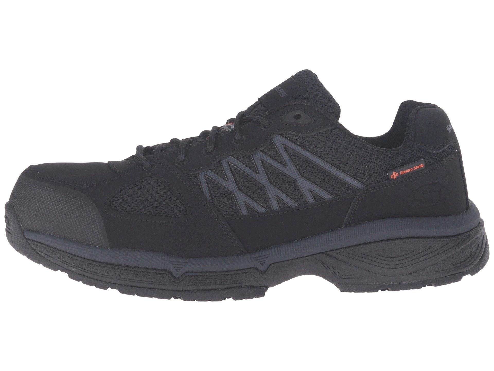 Skechers For Work Men S Conroe Searcy Slip Resistant Work Shoe