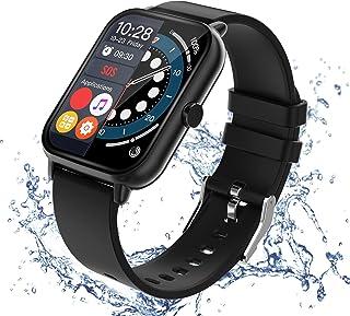 スマートウォッチ Bluetooth通話 2021最新版 歩数計 消費カロリー 腕時計 天気表示 着信&メッセージ通知 音楽保存&再生 8種類スポーツモード IP67防水 日本語 ios&Android 対応