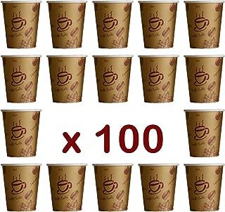 '100 Unidades. Coffee To Go – Vasos desechables para café, cartón revestido, 200 ml/alta calidad