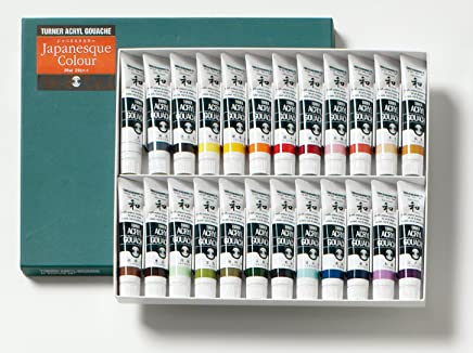 ターナー色彩 アクリルガッシュ ジャパネスクカラー ジャパネスク24色セット(A) AGJ2024C 20ml(6号)