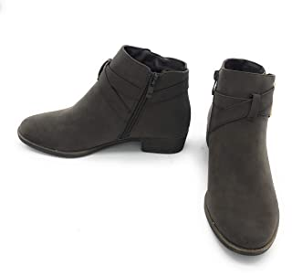 EASY21 Women's Ankle Booties Low Heel Fashion Casual Flat Short Boots