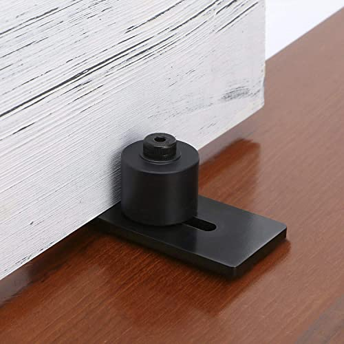 new arrival SMARTSTANDARD Sliding Barn Door Bottom Adjustable Floor Guide Roller, Black, Smoothly and Quietly, Easy sale to new arrival Install outlet online sale