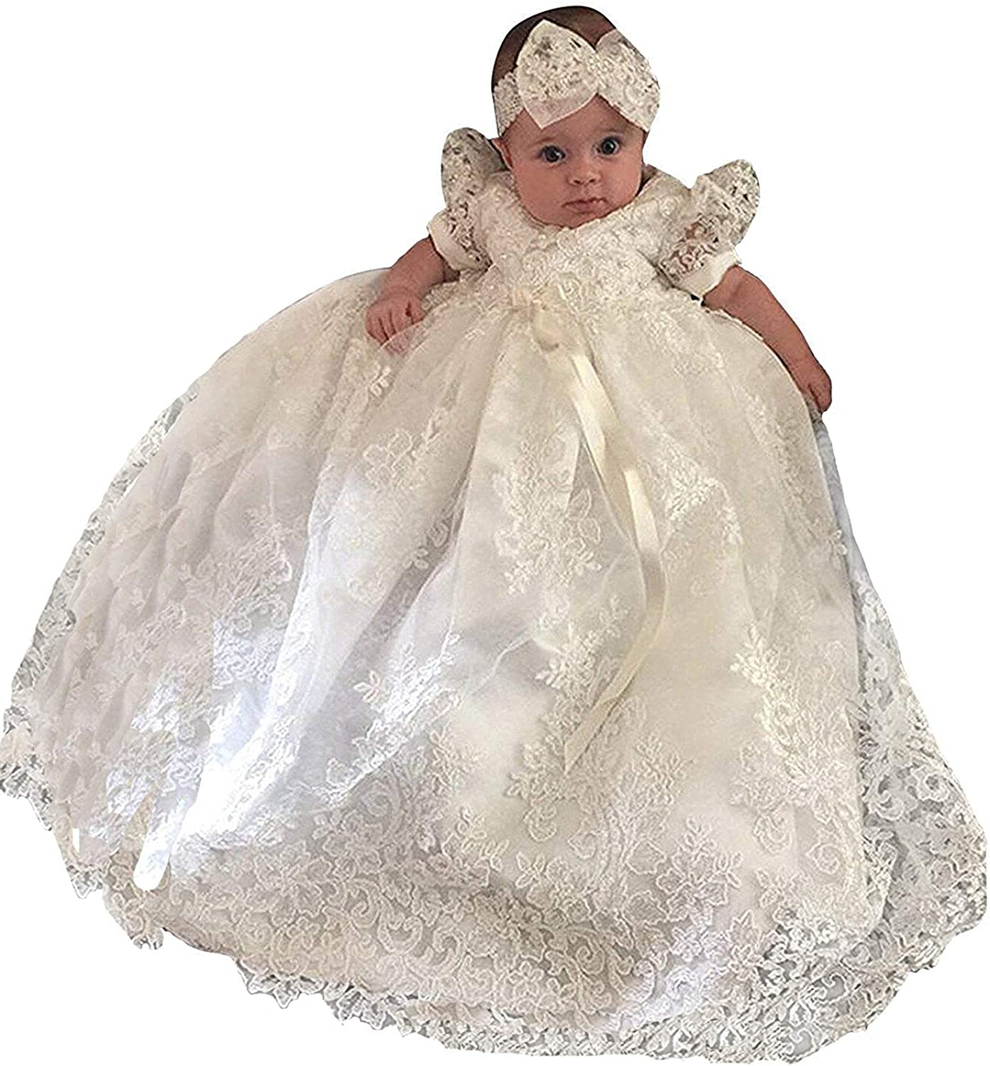 Christening Gown Baby Girl OFFicial Lace Toddler 3-24 Month Age outlet for Dress