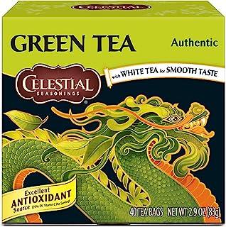 Celestial Seasonings Green Tea, Authentic, 40 Count (Pack of 6)