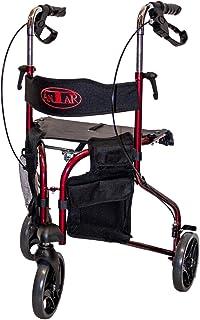 Antar 3 Rad Rollator mit Rückengurt und abnehmbarer Tasche