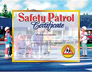 Safety Patrol Certificate - Glossy Paper - Quantity 150