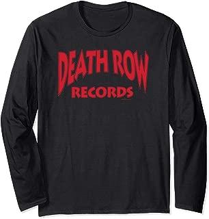 Death Row Records Death Row Type Logo Only Long Sleeve Tee