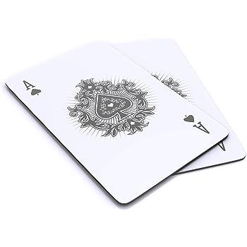 CSL - RFID Blocker Karte - Karten Abschirmung 2er Set - Schutz vor Cyber Kriminalität - kompakt und stabil – Alternative zu Schutzhüllen – RFID und NFC – Störelektronik – mit Motiv Pik Ass