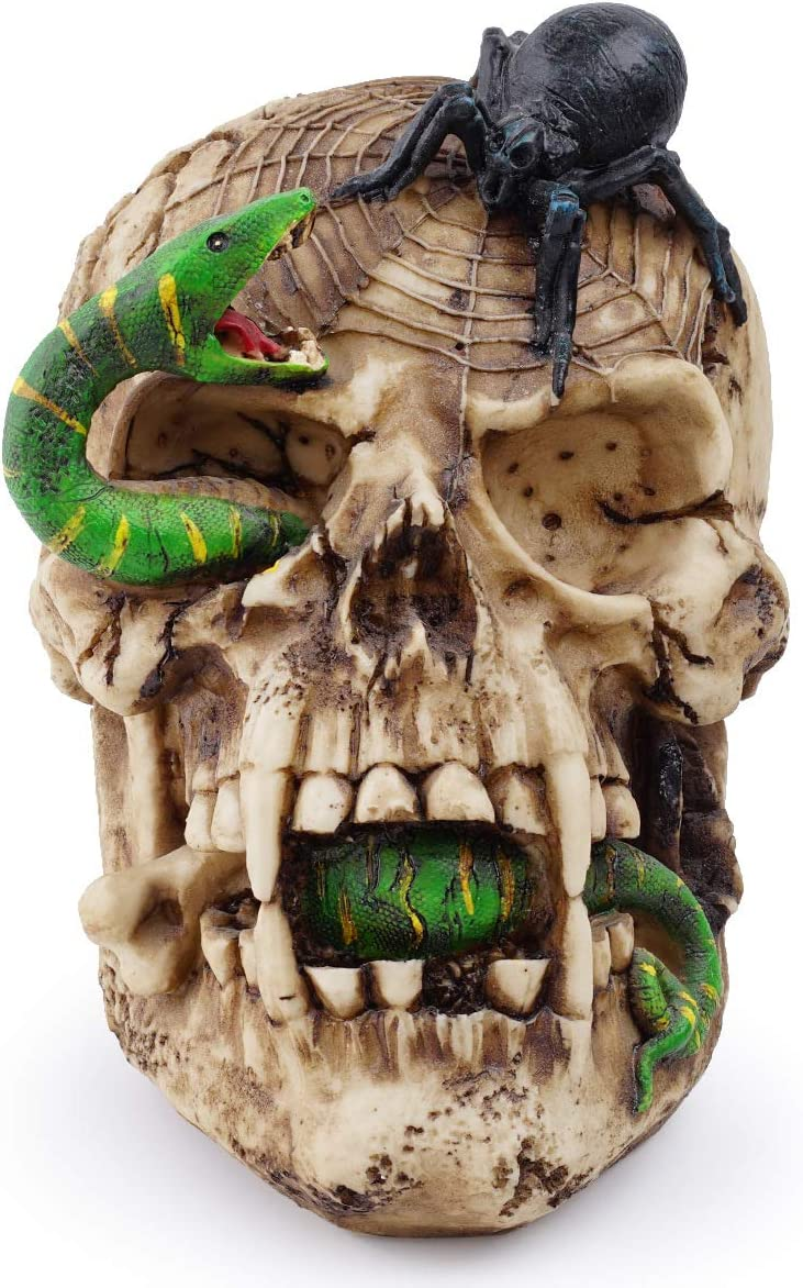 Halloween Skull Snake Spider Deco Max 53% OFF Head Our shop most popular Horror Statue