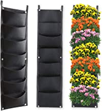 X XBEN Vertical Wall Hanging Planters, 7 Pockets Indoor Outdoor Large Grow Bags for Balcony Garden Yard Office Home Decora...