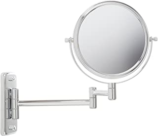 Jerdon JP7508C 6-Inch Two-Sided Swivel Wall Mount Mirror with 5x Magnification, 10-Inch Extension, Chrome Finish