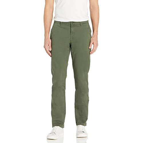 Wood Paper Company Mens Slim Fit Clean Front Comfort Stretch Chino Pant