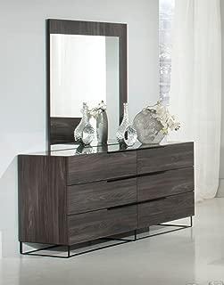 Limari Home Ezzi Dresser & Mirror Set Gray