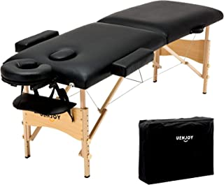 Uenjoy Folding Massage Table 84'' Professional Massage Bed 2 Fold Lash Bed with..