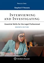 Interviewing and Investigating: Essentials Skills for the Legal Professional (Aspen Paralegal Series) PDF
