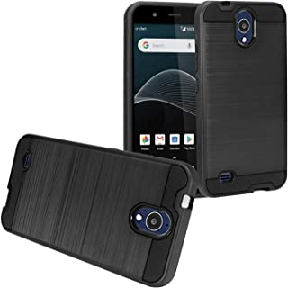 Z-GEN - AT&T Axia, Cricket Vision, QS5509A - Brushed Style Hybrid Case - CS3 Black