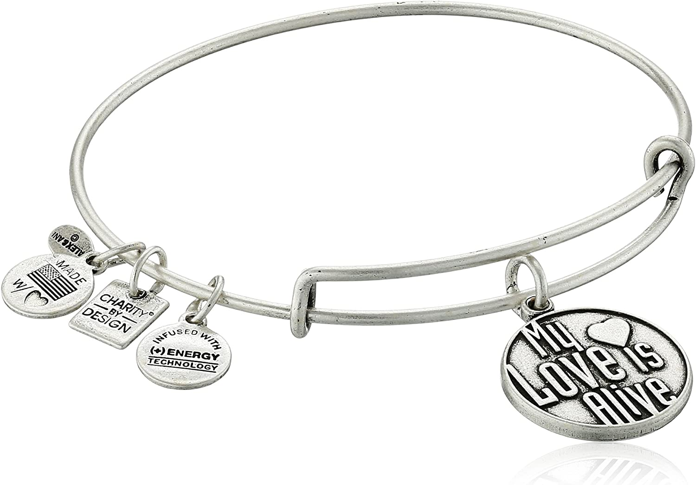 Alex and Ani My Love is Alive Bangle Bracelet